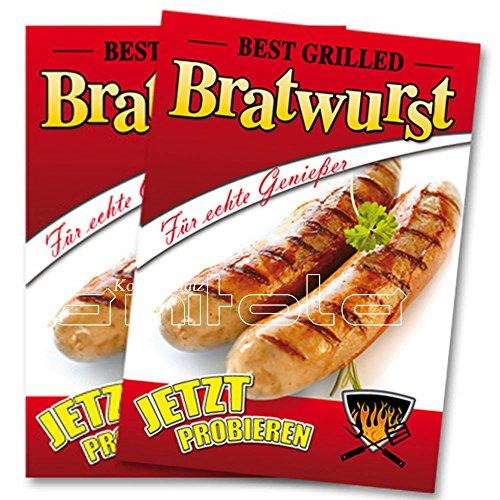 2 x Bratwurst Poster / Plakate DIN A1 Werbung für Gastronomie