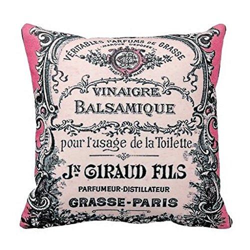 Vintage französische Parfüm Deko Kissenbezug Home Decor Werfen Kissen Fall 45,7cm (König-decke-clearance)