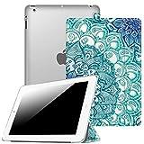 Fintie Hülle für iPad 2/3 / 4 - Ultradünne Superleicht Schutzhülle mit transparenter Rückseite Abdeckung Cover mit Auto Schlaf/Wach Funktion für iPad 4 / iPad 3 / iPad 2 Retina, smaragdblau