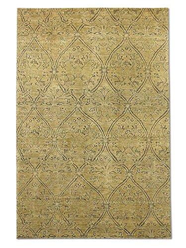 Pak Persian Rugs Handgeknüpfter Gabbeh Teppich, Dark Champagner/Sand, Wolle, Medium, 179 X 265 cm -