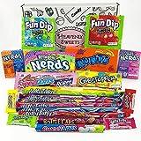 Boîte American Candy Wonka | Sélection coffret bonbons confiseries | Assortiment inclut Nerds et Gobstoppers | Coffret cadeau vintage de 21 pièces