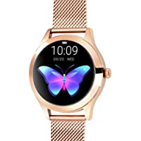 Smart watch KW10,IP68 Valutazione Impermeabile,Schermo Di Tocco Tondo,Con Fitness Tracker,Sonno Contapassi for Rilevare…