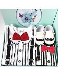 SHISHANG Ensemble cadeau pour bébés Boîte cadeau Boy Baby Gifts Pour 0-18 mois Newborn 100% coton Four Seasons Gift Bag , 95cm