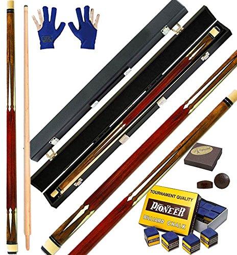 Vintage 2 stecca biliardo internazionale senza buche disciplina 5-9 birilli, cm.142 cuoio O mm.12. Stecca abbinata ad una valigetta rigida Fire. Accessori e ricambi omaggio.