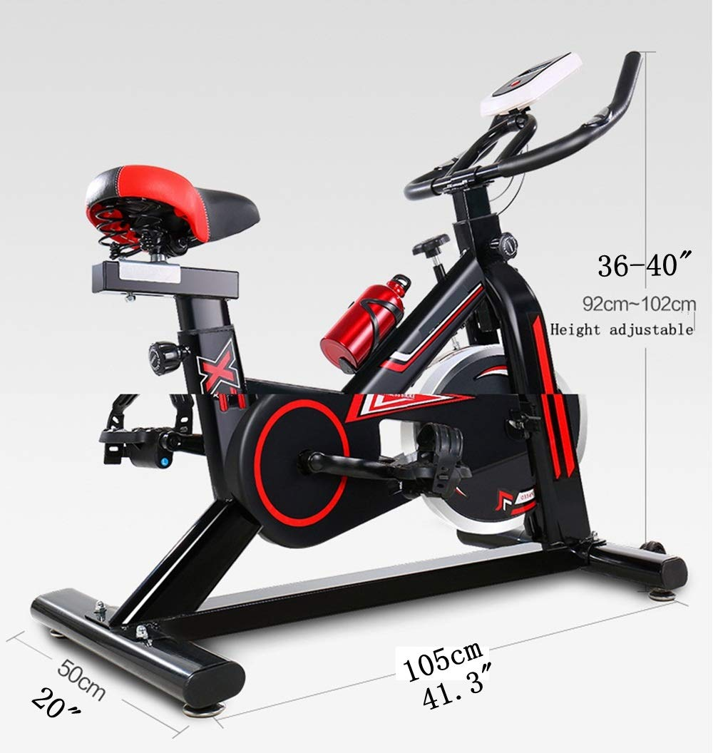 61KXCFyDTRL - YHSport Indoor Cycling Exercise Bike, F-Bike Home Trainer Flywheel Adjustable Magnetic Resistance, 2-Piece Crank, 5-Function Monitor, Emergency Stop System, Ergonomic Fully Adjustable Seat