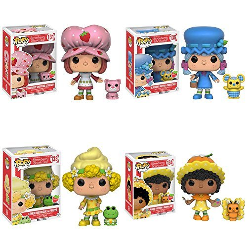 Strawberry Shortcake Orange Blossom, Blueberry Muffin, Lemon Meringue, and Custer Scented Pop! Vinyl Figures! Set of 4 by Strawberry Shortcake (Strawberry Shortcake Blueberry Muffin)