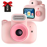 Appareil Photo Enfants, Appareil Photo numérique Enfant 2 Pouces Écran HD IPS 12MP Pixel Double lentille,Portable…