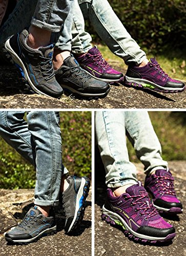 Scarpe da tennis all'aperto di modo estate ed autunno scarpe da tennis per tessuti a rete per escursionismo campeggio arrampicata traspirante e antiscivolo (men).