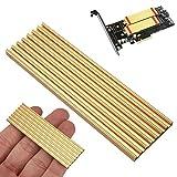 MYAMIA 71 x 21 x 3 mm Aluminium Diffuse Kühlkörper Heat Dissipation Cooling Pad M2 Ngff 2280 Für Sm961 960Pro