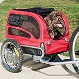 DOGGYHUT® Hundeanhänger Hunde Fahrradanhänger Hundetransporter-MEDIUM ROT 60301-01