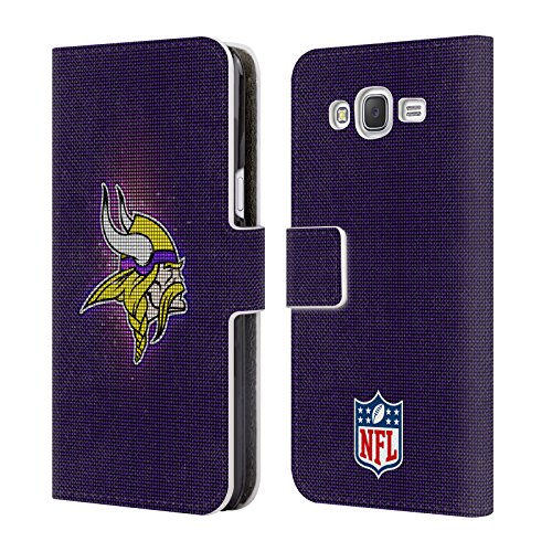 5fbfa4bcc Official NFL LED 2017 18 Minnesota Vikings Leather Book Wallet Case Cover  For Samsung Galaxy