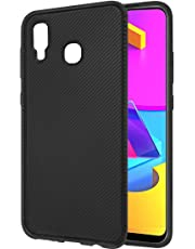 Amazon Brand - Solimo Mobile Cover for Samsung Galaxy M10s (Soft & Flexible Back case), Black