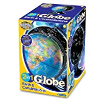 Brainstorm Toys E2001 Light Up 2 in 1 Globe Earth & Constellations