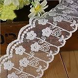 Artesanía de costura bordada cinta de algodón de flores para accesorios de vestir y decoraciones de la boda