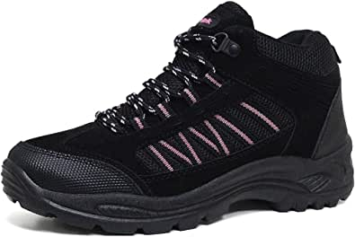 Ladies Hiking Boots New Girls Lightweight Adjustable Walking Hiking Trekking Trail Rambling Ankle Boots Shoes Size 3 4 5 6 7 8