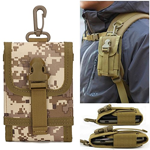 MOLLE Tactical Bolsa de Smartphone Impermeable 1000D Nylon C..