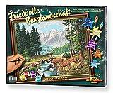 Schipper 609130344 - Malen nach Zahlen - Friedvolle Berglandschaft, 40x50 cm