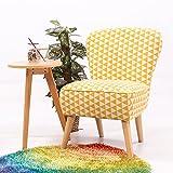 Keinode Leinen Stoff Sessel Sessel Modern Möbel Gepolstert Akzentkissen Sofa für Esszimmer Wohnzimmer Schlafzimmer Lounge Büro gelb