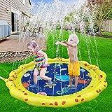 VATOS Splash Pad Wasser-Spielmatte Outdoor Sommer Splash Play Matte Garten Splash Spielmatte Sprinkler und Splash Play Matte für Baby Party 59