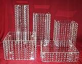 Kristall Hochzeit Tortenständer Design Etagere 5 Etagen Acryl, quadratisch