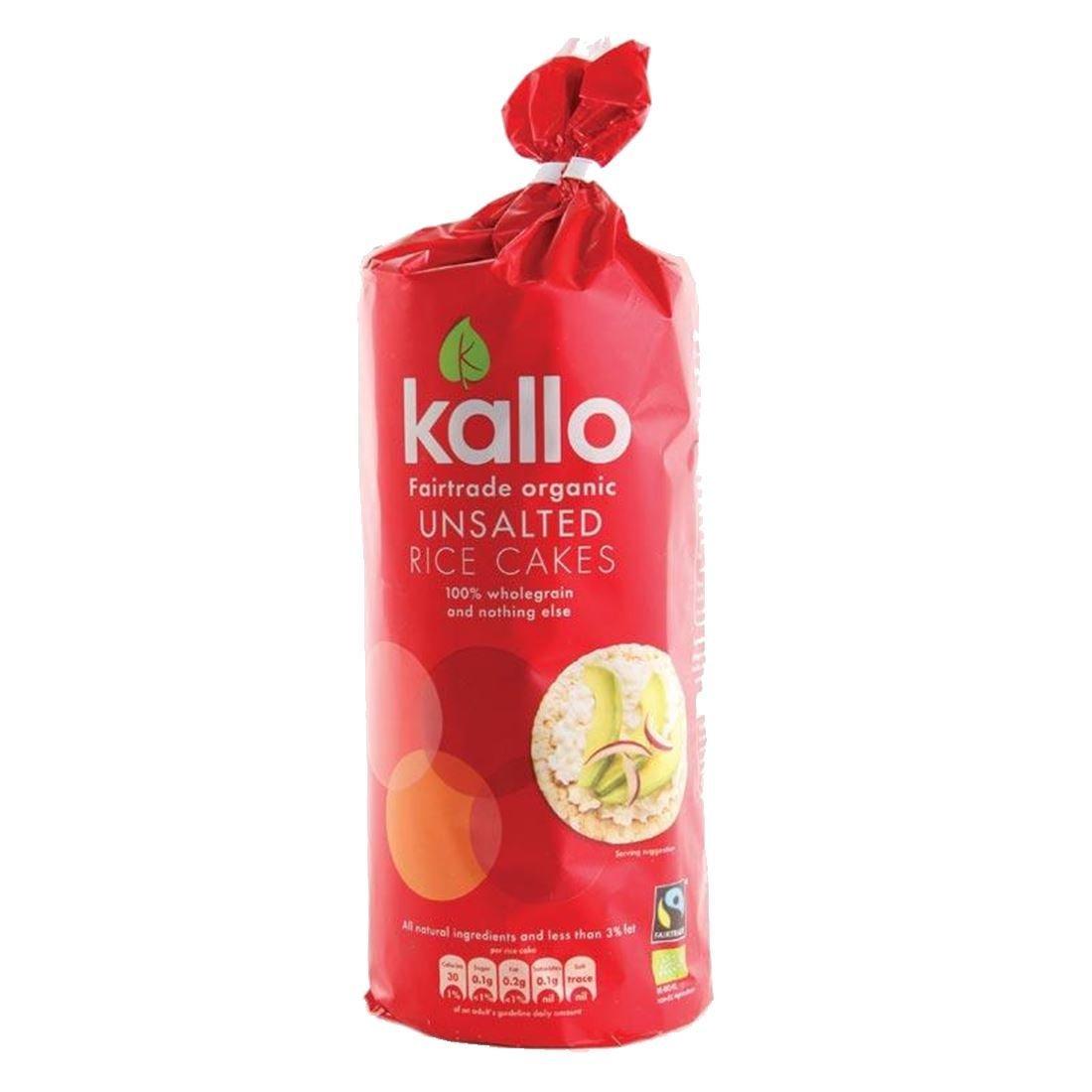 Kallo | Fairtrade Rice Cake No Salt OG | 5 x 130g