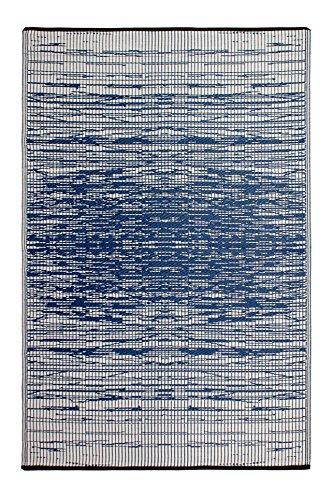 FAB HAB Réversible intérieur/extérieur Météo Resistant Tapis de Sol - Brooklyn Blue (180 cm x 270 cm)