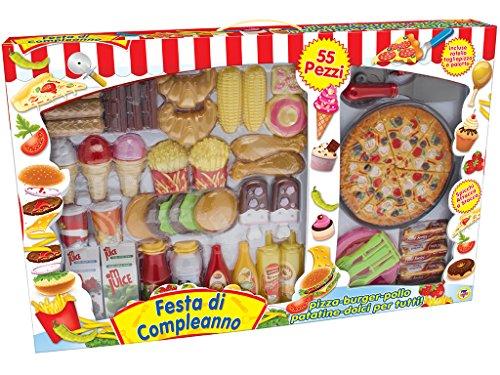 Teorema 63193 - Fast Food Festa di Compleanno: Pizza/Burger/Pollo/Patatine/Dolce