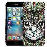 Conie Handyschale kompatibel mit iPhone 4S / 4, Muster Bumper Rückschale Hülle mit Tier- Motiven Schutz- Case