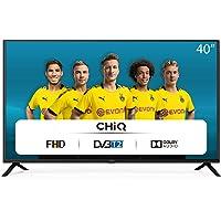 CHiQ 100cm Fernseher 40 Zoll TV FHD LED Fernseher, Triple Tuner, HDMI, USB, CI+, H.265, Dolby Plus, Schwarz