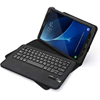 Jelly Comb Samsung Galaxy Tab A 10.1 Tastatur Hülle, Bluetooth Keyboard Case Wiederaufladebarer Tablet Tastatur für Samsung Tab A 10.1 Zoll, QWERTZ Deutsches Layout, Schwarz