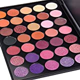 Value Makers 35 Farben Shimmer Glitzer matter Lidschatten Palette wasserfest neutrale Farben warmer...