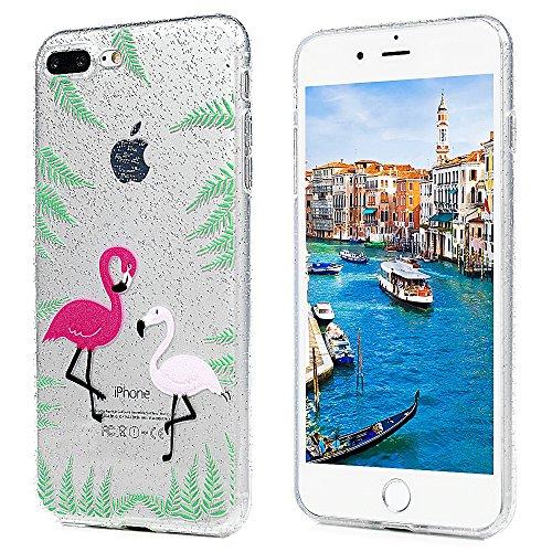 3x Cover iPhone 7 Plus iPhone 8 Plus Custodia Glitter Brillanti Morbida Silicone TPU Flessibile Gomma - MAXFE.CO Case Ultra Sottile Cassa Protettiva per iPhone 7 Plus / iPhone 8 Plus - Modello 3 Modello 3