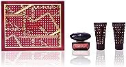 VERSACE Crystal Noir Set Regalo For Women - Edt 50 ml + Body Lotion 50 ml + Shower Gel 50 ml
