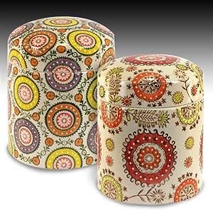 Signes grimalt 2 bunte vorratsdosen keramik 16 cm 63496sg - Barattoli cucina colorati ...