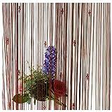 ZAIQUN - Cortinas decorativas para puerta con borlas., Shallow Cooffee, 1 m x 2 m