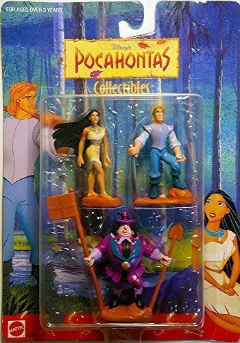 Disney Pochahontas Mini Figure Set - Pocahontas, John Smith & John Ratcliffe