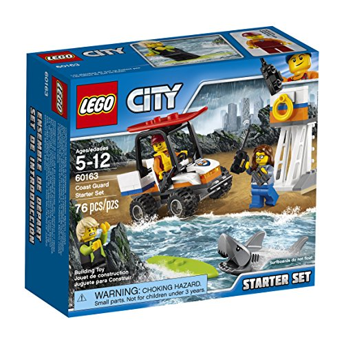 LEGO City Coast Guard Coast Guard Starter Set 60163 Building Kit (76 Piece)  available at amazon for Rs.1098