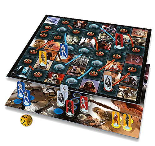 Brigamo 87310 – Star Wars 7 das Erwachen der Macht Brettspiel, 2in1 Gesellschaftsspiel Ludo + Schlangen & Leitern - 2