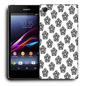 Snoogg Grey Diangle Designer Protective Phone Back Case Cover For Sony Xperia Z2