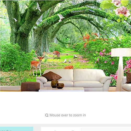 Zxfcccky 3d benutzerdefinierte tapete greenwood tier blumen 3d wandbild tapete landschaft tv wohnzimmer zurück-280X200CM Greenwood Wallpaper