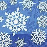 Tischdecke aus Kunststoff mit Schneeflocken-Motiv Servietten mehrfarbig