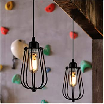 Neuf Edison Nid Abat Jour Vintage Plafonnier Lampe Ampoule Cage Bar Cafe