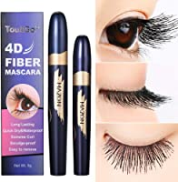 4D Mascara,Fiber Eyelash Mascara imperméable à l'eau de fibre de soie,Fiber De Soie Cils Noir Mascara,Un Mascara Gel,Les...