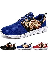 Baymate Hombres Cómodas Sandalias Slip-on Malla Exterior Zapato de Agua Zapatillas de Deporte Azul 39