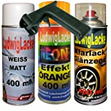 Neon Lack Spray SET Orange 3 Spraydosen a 400ml + Spraydosen Handgriff