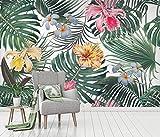 Papier Peint 3D Fleurs Et Feuillage Forêt Tropicale Historique Mur Moderne Papier Peint Intissé Décoration Murale