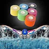 JUEYAN 6 Rollen Kinesiologie Tape 5 X 500 CM Sporttape Wasserdicht Elastisches Kinesiology Sport Tape Tapeverband... preisvergleich bei billige-tabletten.eu