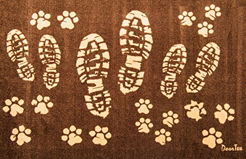 Doortex Schmutzfangmatte | Fußmatte | 60 x 100 cm | aus Nylonfasern auf Vinylrücken | Motiv: Stiefel | für den Innenbereich