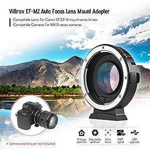 Andoer-Viltrox-EF-M2-Autofokus-Objektiv-Mount-Adapter-071X-fr-Canon-EOS-EF-Objektiv-zu-Micro-Four-Thirds-MTF-M4-3-Kamera