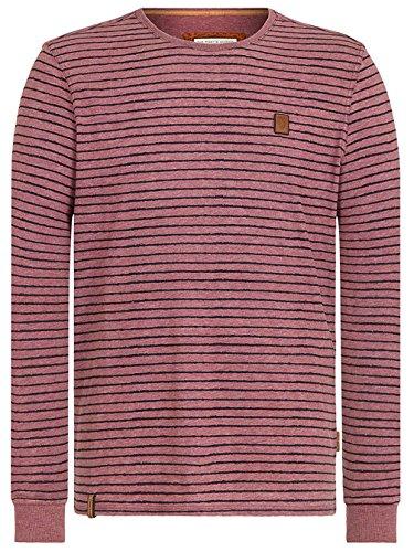 Naketano Male Sweatshirt Kommt Ein Dünnschiss II heritage bordeaux melange